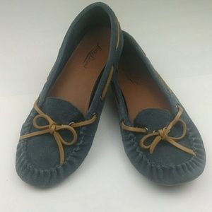 Lucky Brand Blue Loafers Boat Shoes 0431
